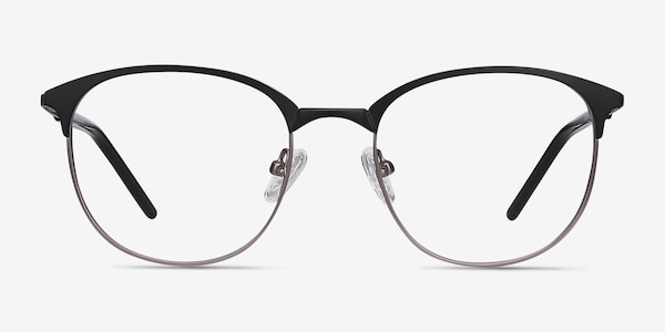 Perceive Black Gunmetal Metal Eyeglass Frames