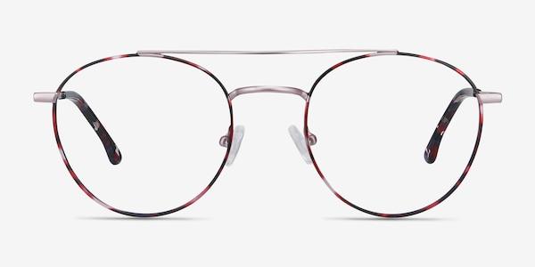 Earhart Red Tortoise Metal Eyeglass Frames