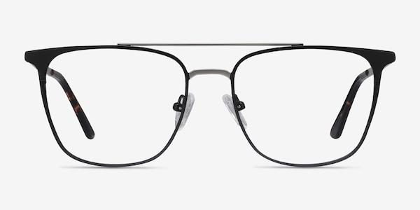Contact Black Metal Eyeglass Frames