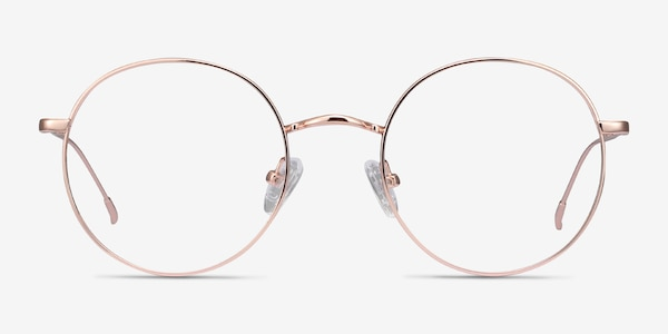 Dapper Rose Gold Metal Eyeglass Frames