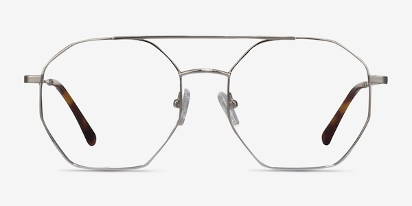 Eight Silver Metal Eyeglass Frames