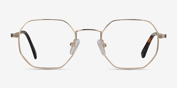 Soar Golden Metal Eyeglass Frames