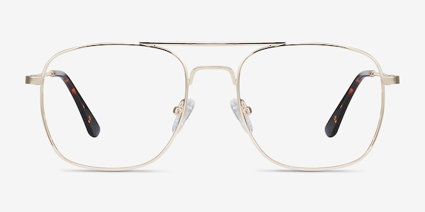 Fame Golden Metal Eyeglass Frames