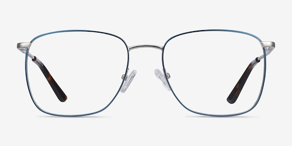 Reason Navy Metal Eyeglass Frames
