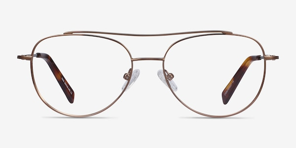 Max Brown Metal Eyeglass Frames