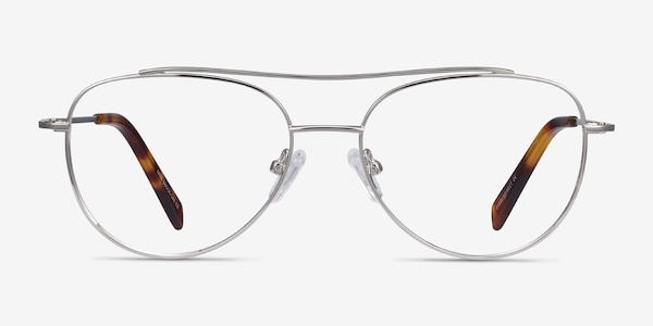 Max Silver Metal Eyeglass Frames