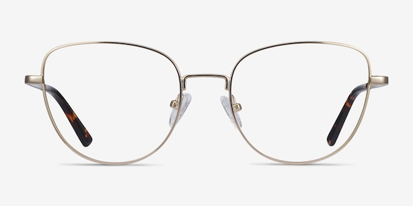 Clotilde Gold Metal Eyeglass Frames