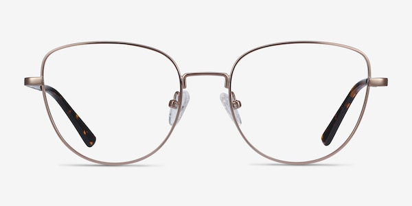 Clotilde Rose Gold Metal Eyeglass Frames