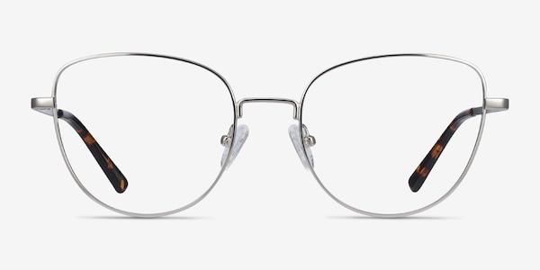 Clotilde Silver Metal Eyeglass Frames