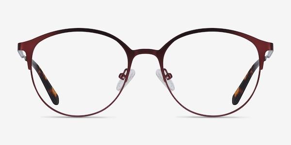 Emma Red Metal Eyeglass Frames
