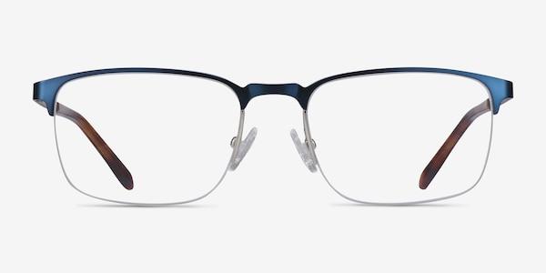 Valery Blue Metal Eyeglass Frames