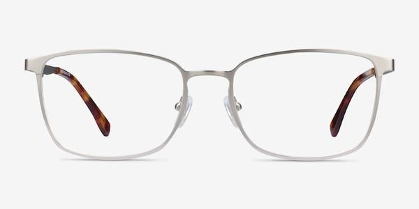 Strategy Silver Metal Eyeglass Frames