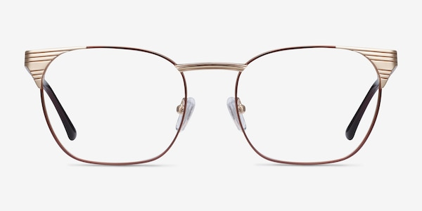 Soulist Brown Golden Metal Eyeglass Frames