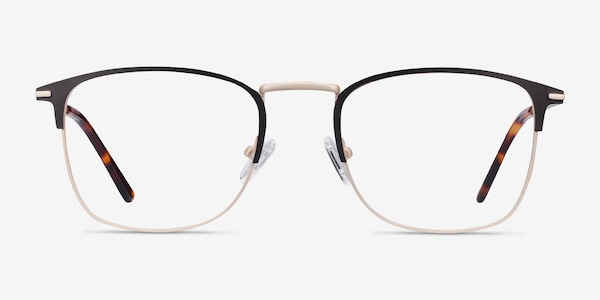Poppy Black Gold Metal Eyeglass Frames