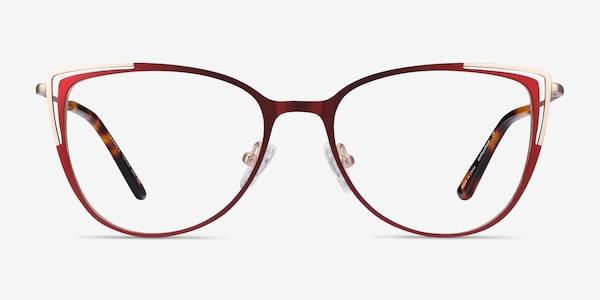 Garance Red & Gold Metal Eyeglass Frames