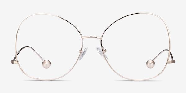 Renata Gold Metal Eyeglass Frames