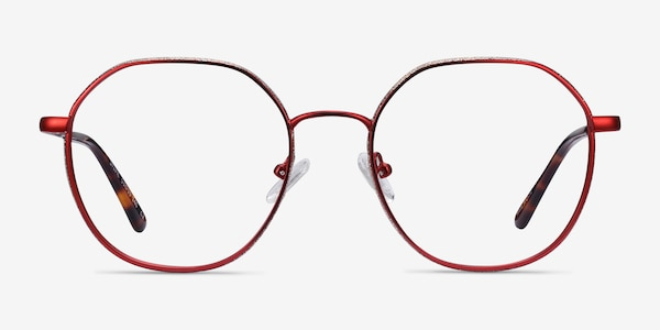 Sylvie Red Metal Eyeglass Frames
