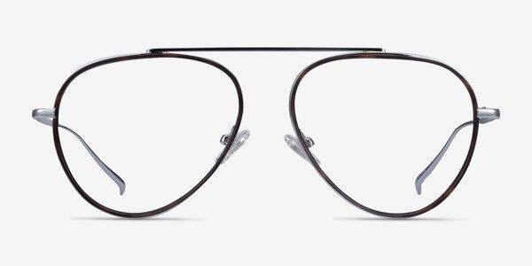 Cana Tortoise  Silver Metal Eyeglass Frames