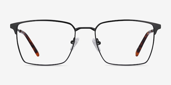 Metro Black Metal Eyeglass Frames