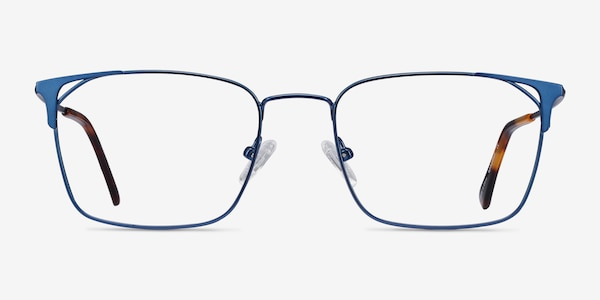 Emett Blue Metal Eyeglass Frames