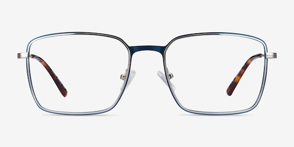 Align Blue & Silver Metal Eyeglass Frames