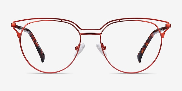 Gia Red Metal Eyeglass Frames