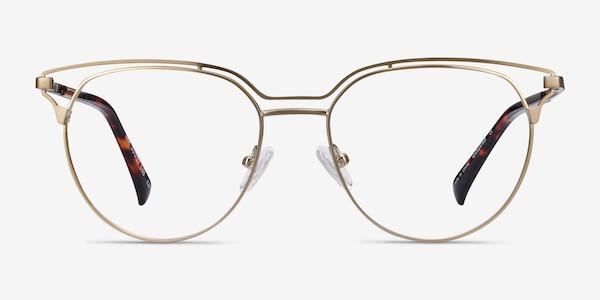 Gia Bronze Metal Eyeglass Frames