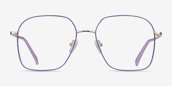 Arty Purple & Gold Metal Eyeglass Frames