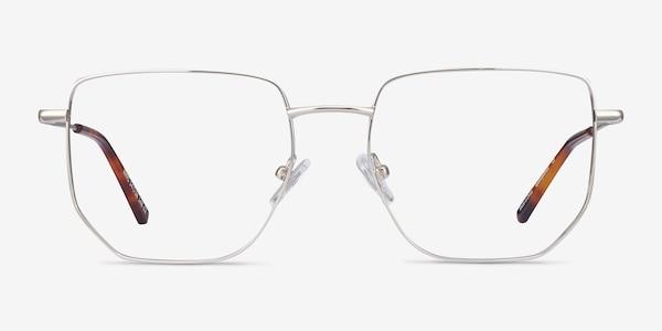 Rhys Silver Metal Eyeglass Frames