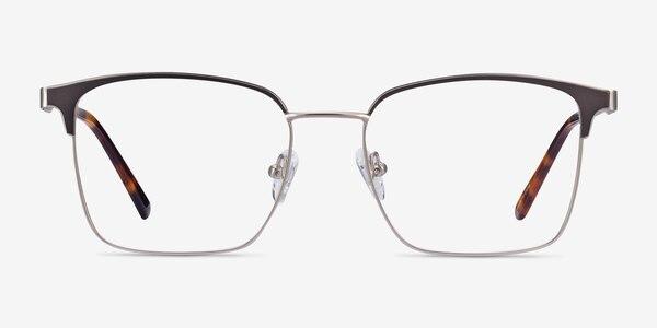 Demy Silver & Black Metal Eyeglass Frames