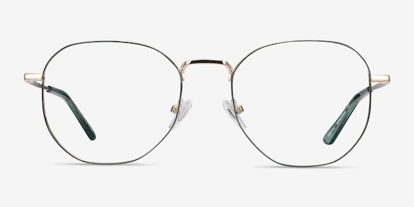 Ethan Avocado & Gold Metal Eyeglass Frames