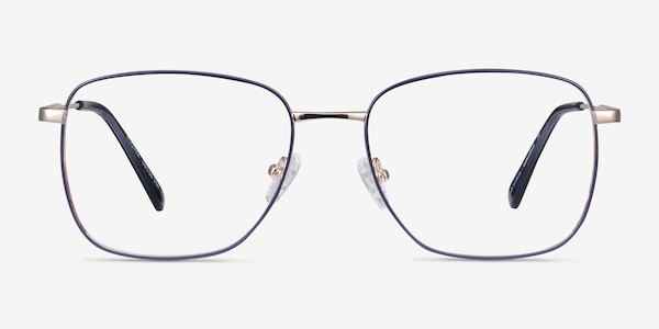 Kusama Navy & Gold Metal Eyeglass Frames