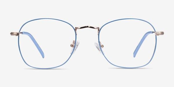 Keith Blue & Gold Metal Eyeglass Frames