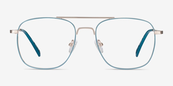 Perry Teal & Gold Metal Eyeglass Frames