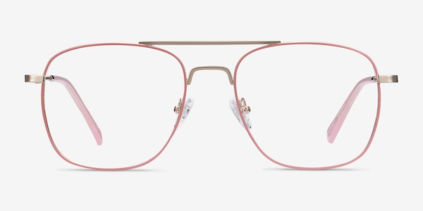 Perry Pink & Rose Gold Metal Eyeglass Frames