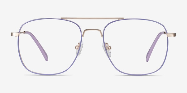 Perry Purple & Gold Metal Eyeglass Frames