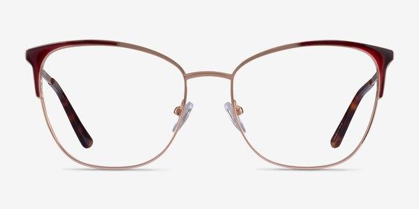 Kelsey Red Rose Gold Metal Eyeglass Frames