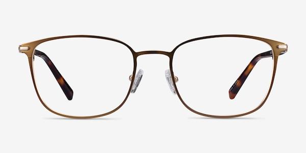 River Bronze & Gold Acetate-metal Eyeglass Frames
