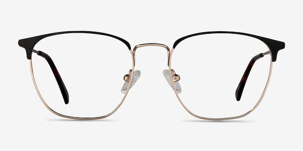 Codex Black Gold Metal Eyeglass Frames