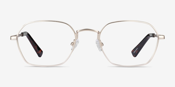 Space Gold Metal Eyeglass Frames