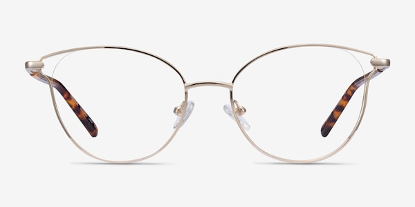 Trance Light Gold Metal Eyeglass Frames