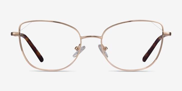 Moment Rose Gold Metal Eyeglass Frames