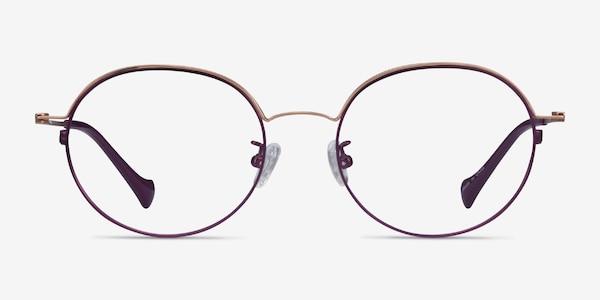 Patel Purple  Rose Gold Metal Eyeglass Frames