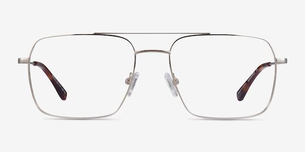 Aerial Silver Metal Eyeglass Frames