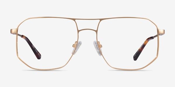 Carlo Brushed Gold Metal Eyeglass Frames