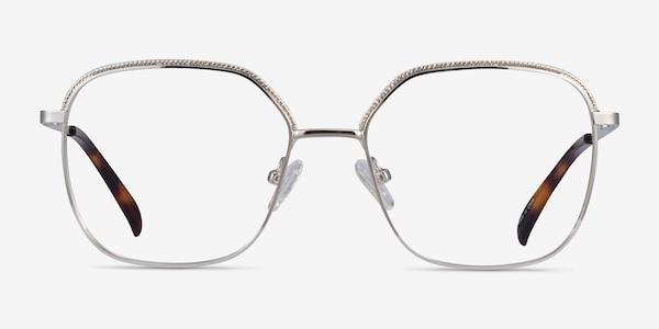Chai Silver Metal Eyeglass Frames