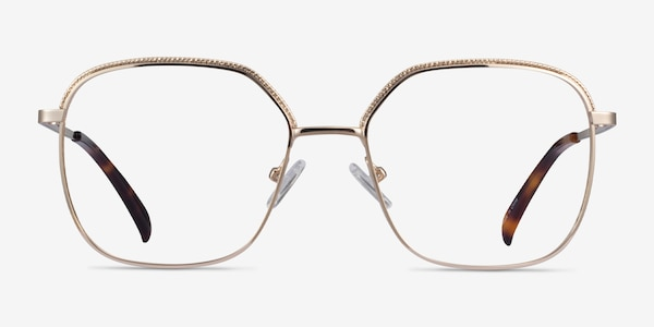 Chai Light Gold Metal Eyeglass Frames