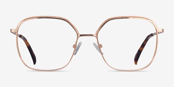 Chai Rose Gold Metal Eyeglass Frames