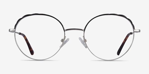 Cloud Silver Black Métal Montures de lunettes de vue