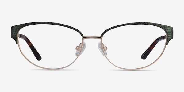 Experience Green Gold Metal Eyeglass Frames